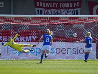 Brighton's Inessa Kaagman nets a penalty