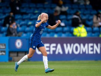Chelsea's Pernille Harder celebrates