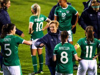 Vera Pauw with republic of Ireland players