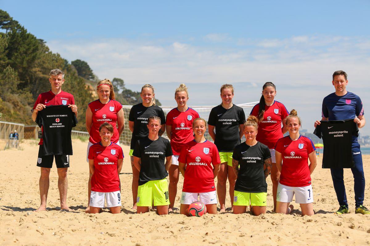 England Beach Soccer squad
