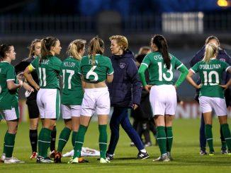Republic of Ireland players with Vera Pauw