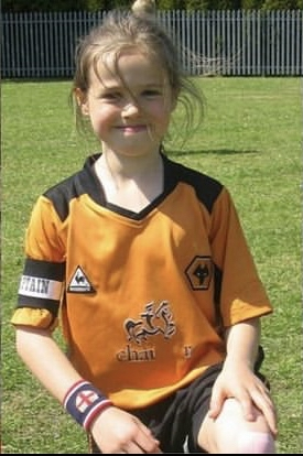 A young Wolves' Beth Merrick