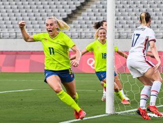 Stina Blackstenius got Sweden's opener v USA