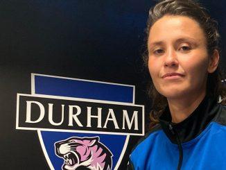 Durham's new signing, Liz Ejupi