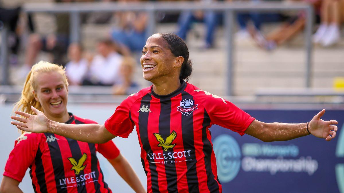 Lewes's two-goal Kallie Balfour