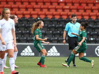Celtic's Charlie Welllings clebrates her winning goal