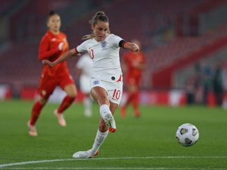 Ella Toone opens the scoring for England