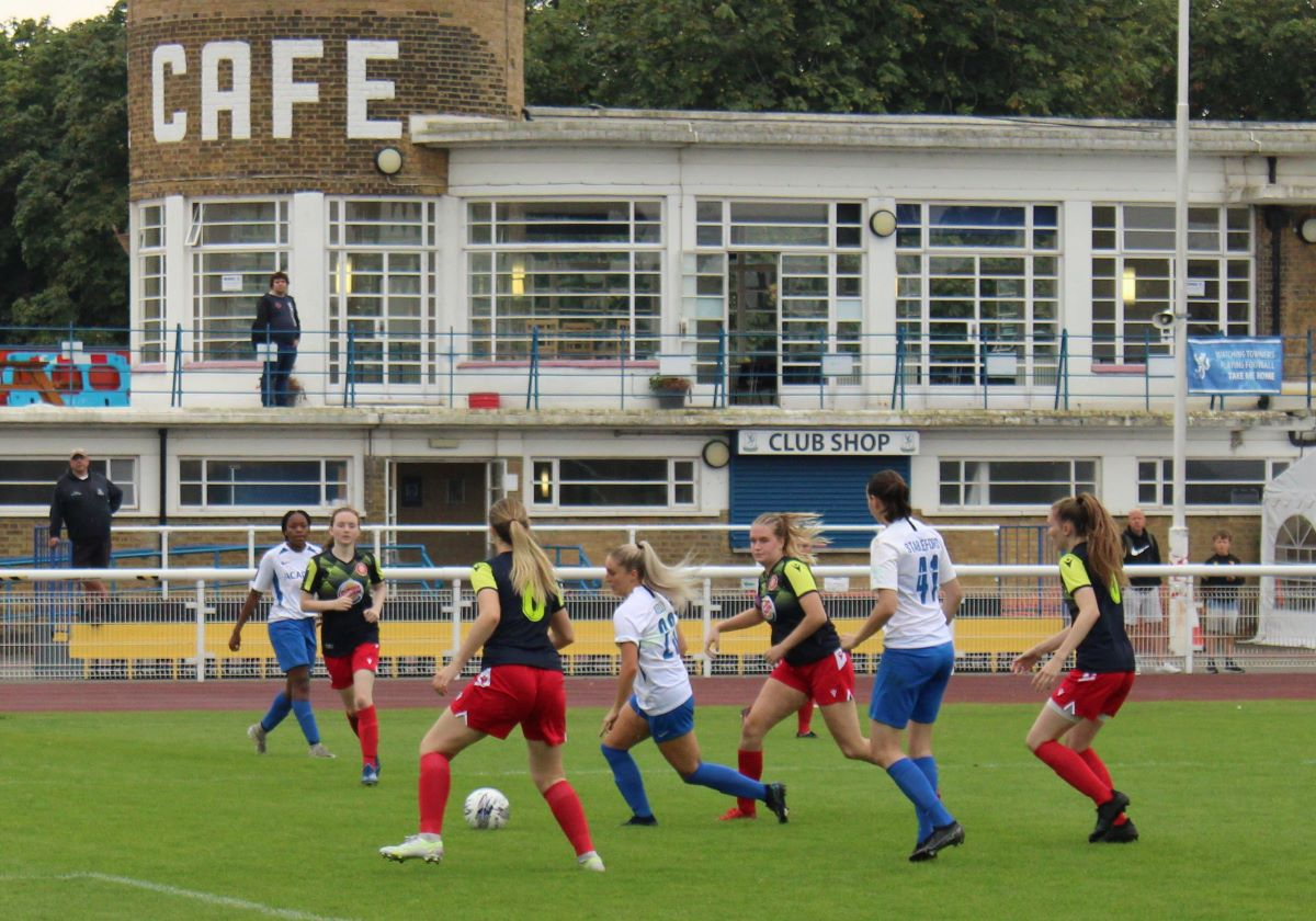 Stevenage got off the mark with victory at Enfield Town.