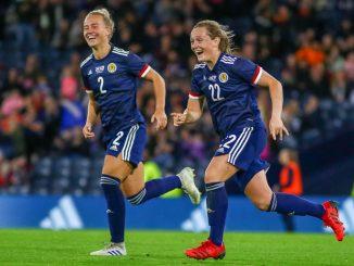Erin Cuthbert scored Scotland's opener