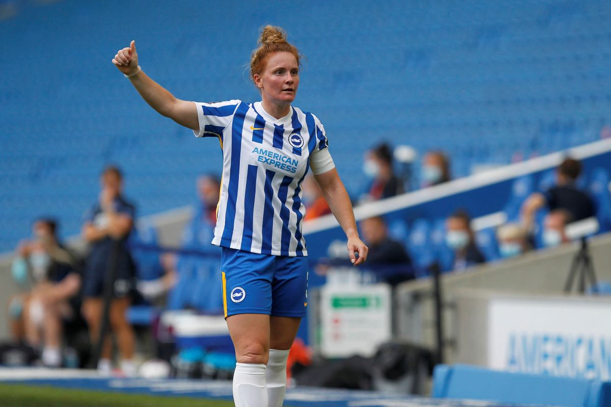 Fliss Gibbons broke the deadlock for Brighton