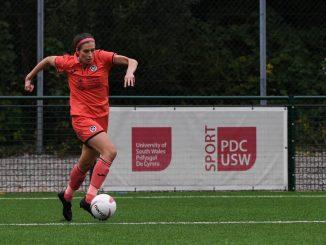 Swansea City's opening scorer, Katy Hosford