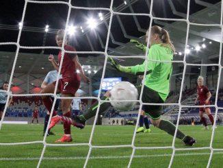 Nikita Parris scores for England