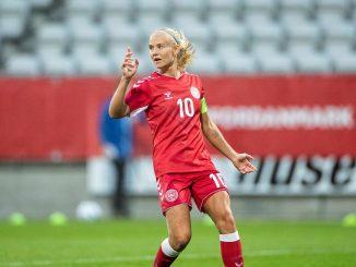 Denmark's new record goalscorer, Pernille Harder