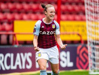 Aston Villa's Remi Allen celebrates a late goal