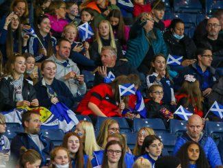 Scotland fans at hampden park