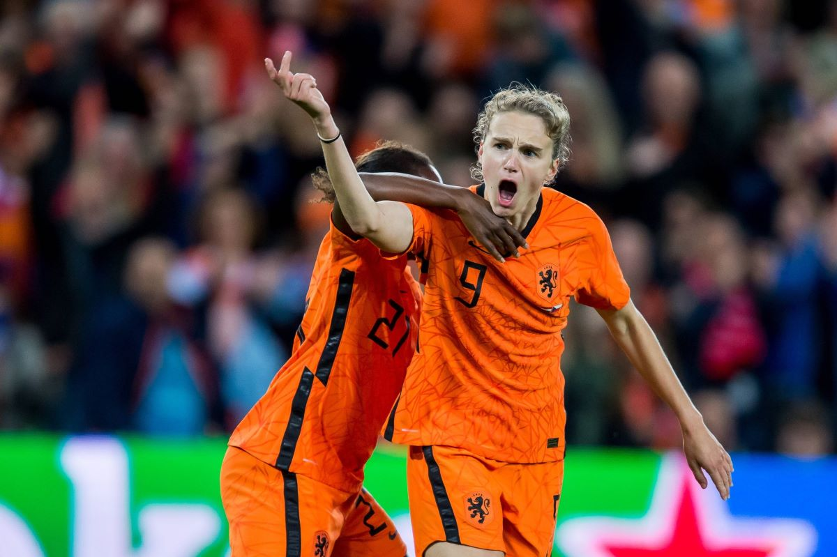 Vivianne Miedema marked her 100th Netherlands cap with a late leveller.