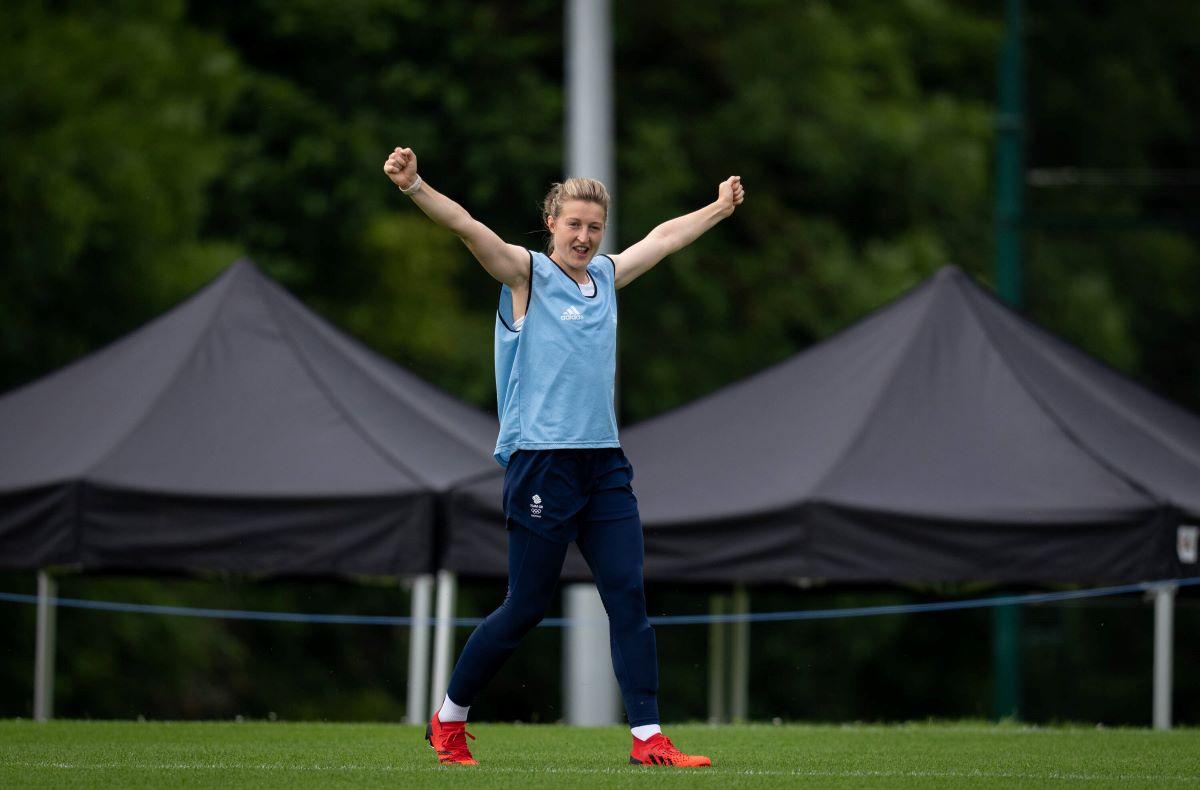 Ellen White training with England