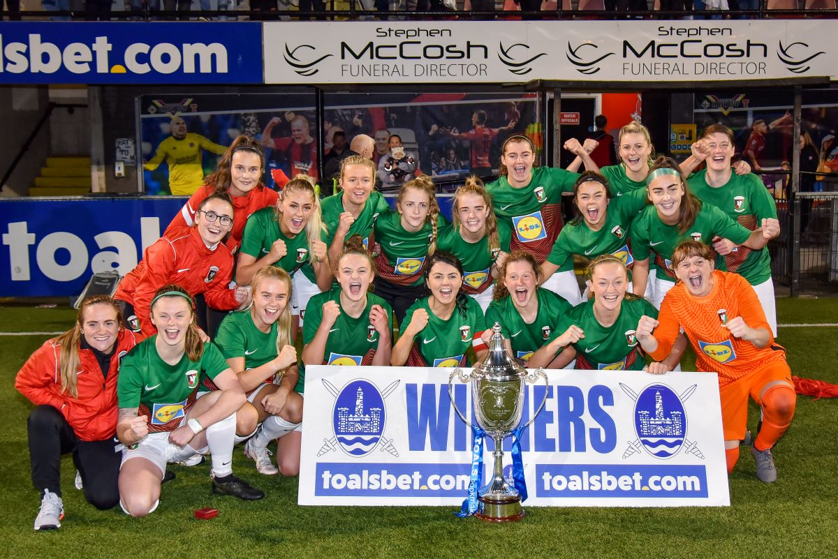 Glentoran with 2021 County Antrim Cup