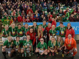 Glentoran with EIWC Cup