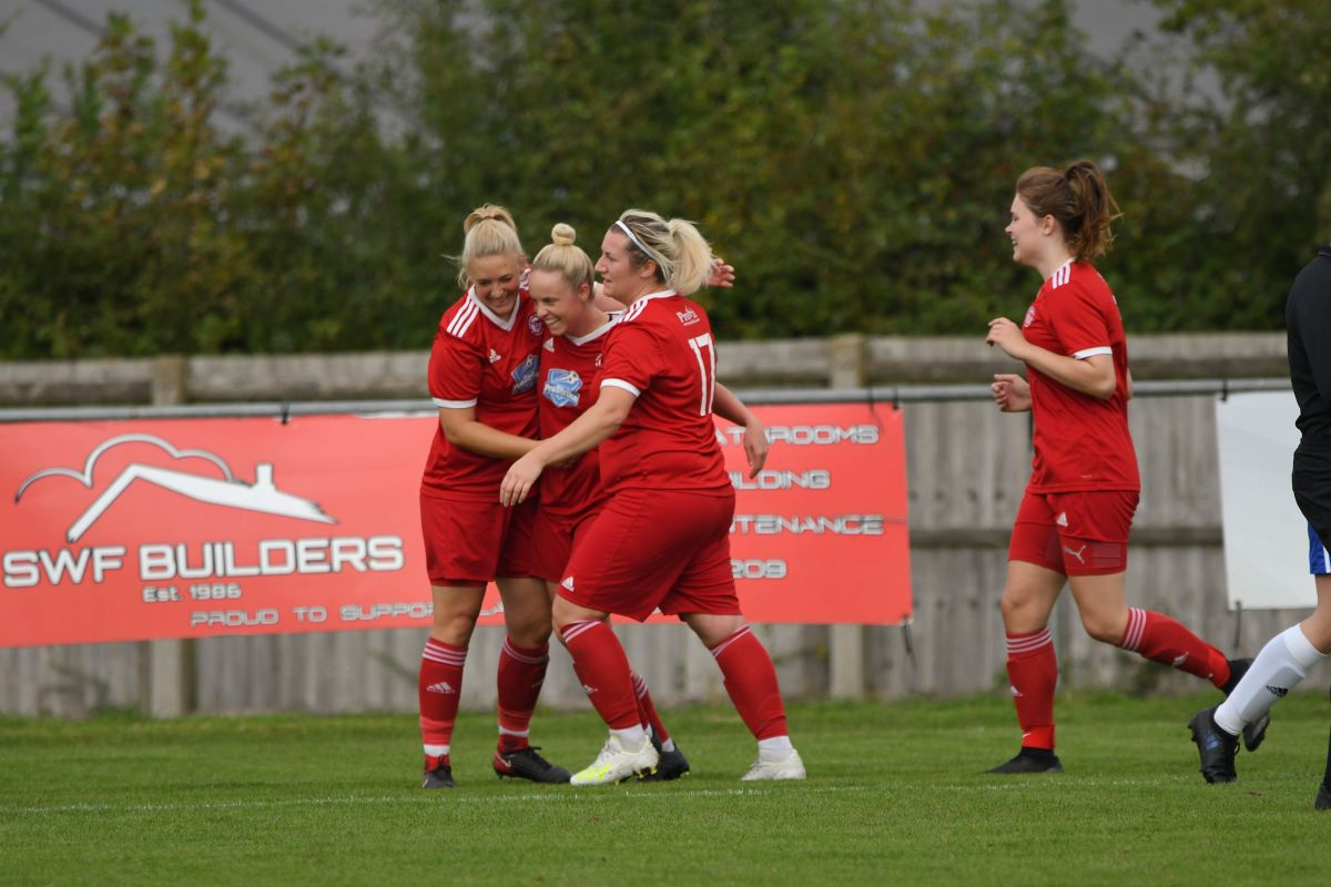 Haverhill Rovers celebrate as they gained a first point