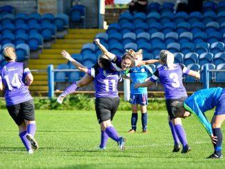 Port Talbot Town celebrate a breakthrough against TNS