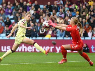Arsenal won 4-0 at Villa Park
