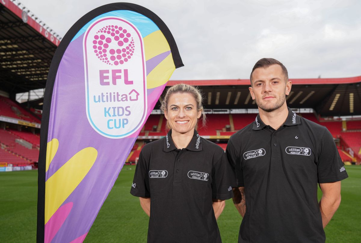 utilita girls cup launch with karen Carney and Jack Wilshere