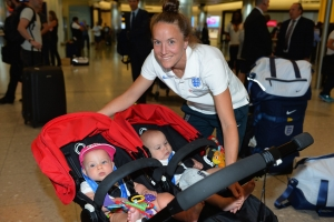 England Women's Team Arrive Back from the World Cup