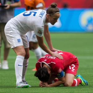 Casey Stoney, Christine Sinclair