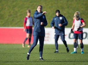 England Womens senior team training - 16 Jan 2018